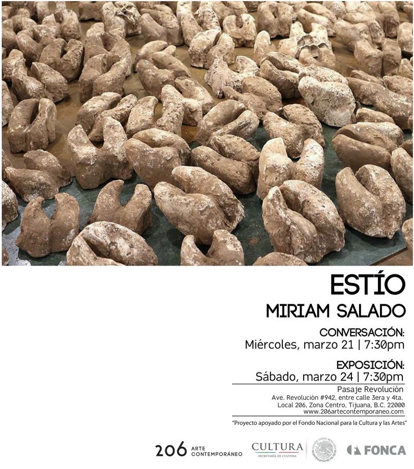 Miriam Salado presenta Estío. Miércoles 21 de marzo a las 7:30 pm, CONVERSACIÓN. Sábado 24 de marzo