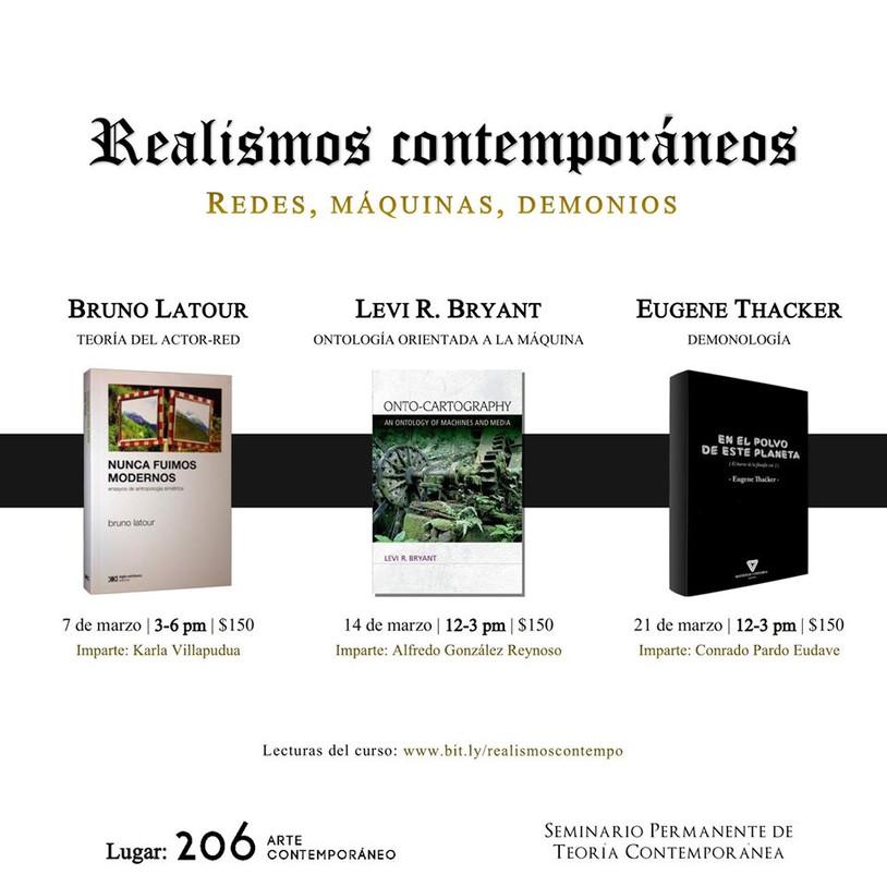 Próximos talleres del Seminario Permanente de Teoría Contemporánea en 206 arte contemporáneo