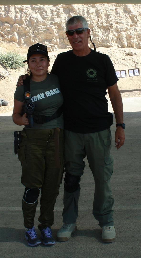 con mi instructor de anti terror
