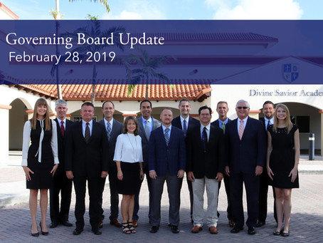 Governing Board Update: 2.28.19 Meeting