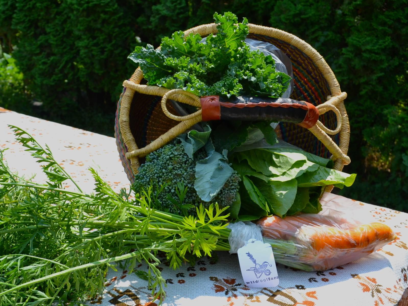 veggie in basket