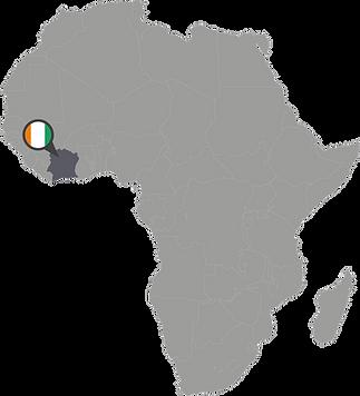 Carte du Cote d'Ivoire