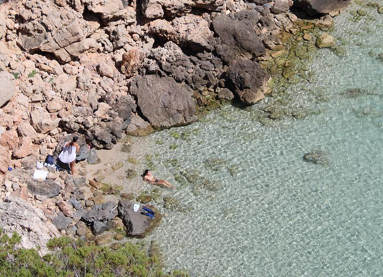 Secluded beach, Ibiza