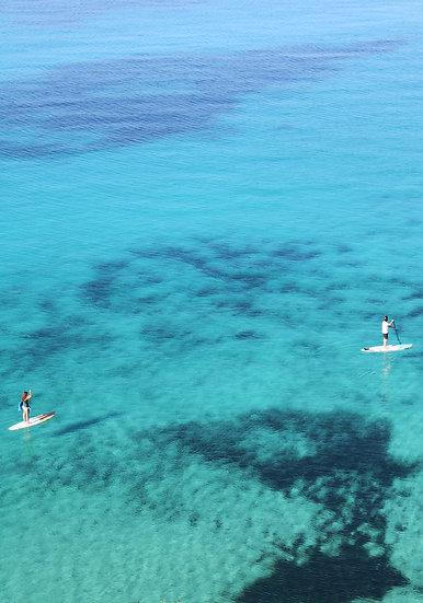 Paddle boarding at Cala Tarida