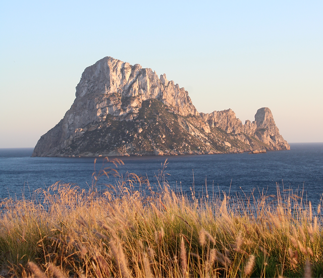 Es Vedra as seen from Cala Carbo