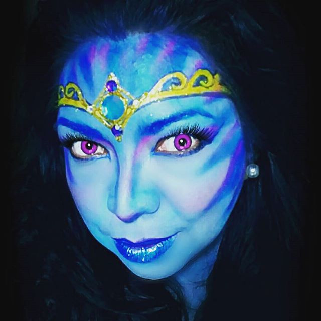 Dark Beauty_#ggsfacepainting  #Avatar #d