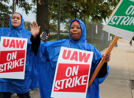 The massive GM strike is a perfect example of our political moment and a harbinger of the coming bat