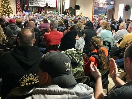 UAW Local 598 collects over $15,000 in toys for kids