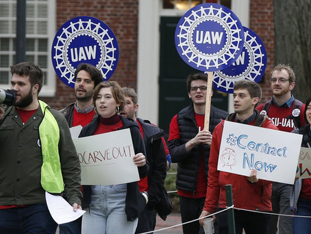 At Harvard, Grad Students Form A Picket Line Over Wages, Health Care And Protections