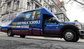NYSUT 'Fund Our Future' bus tour draws attention to underfunding of Southern Tier schools