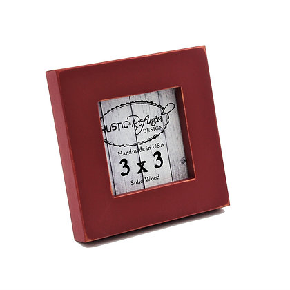 """3x3 1"""" Gallery Picture Frame - Barn Red"""
