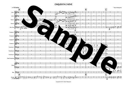 楽譜Cinquenta E Nove(for Big Band)