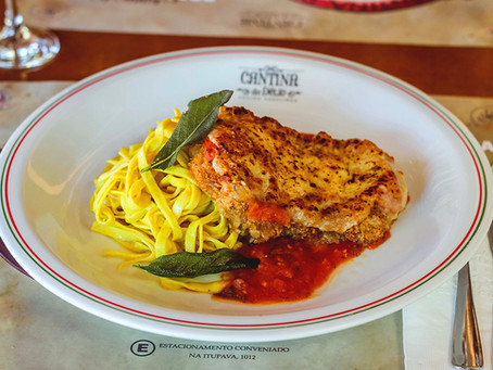 Parmeggiana di Ettore, é o novo prato da Boa lembrança na Cantina do Délio