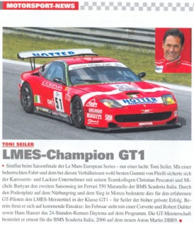 LMES GT1 Champion '05