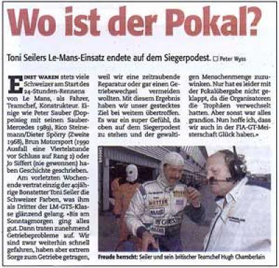 P3 Le Mans '99