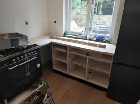 opbouw nieuwe keuken