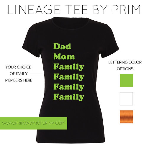 LINEAGE TEE | HERITAGE TEE BY PRIM