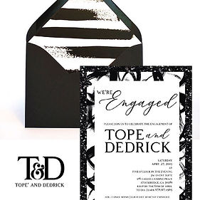 Absolutely loved this invitation. Black