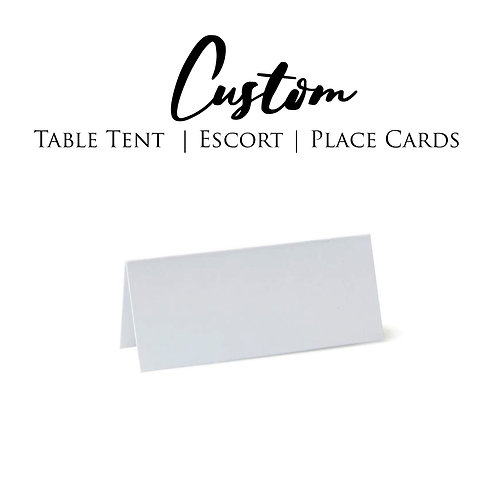 Table Tents, Escort Cards, Place Cards