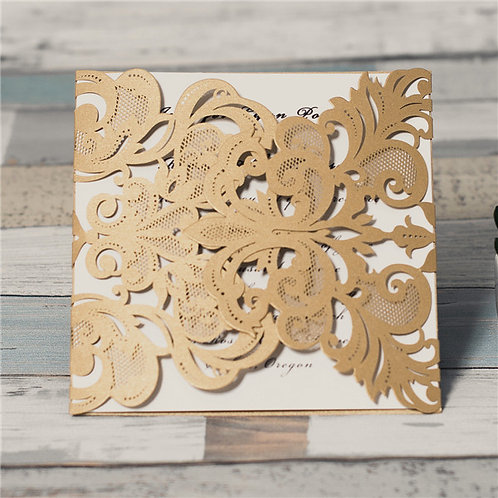 Square Laser Cut Invitation #2