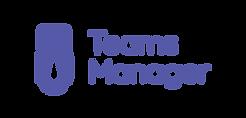 Teams Manager - Logo Horizontal Transpar