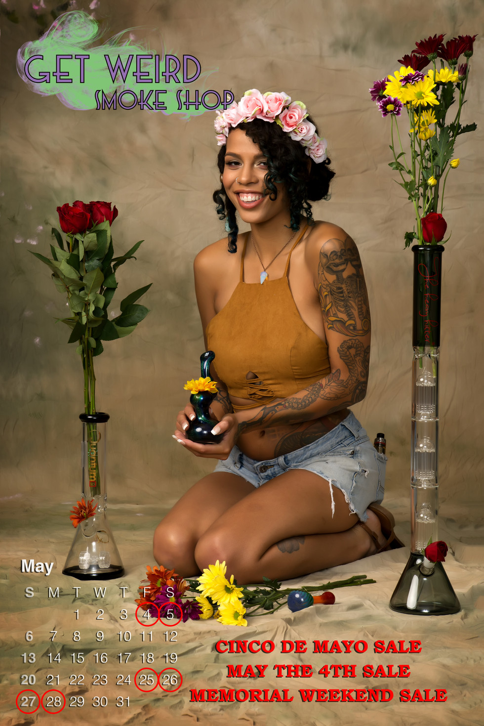 Copyright: Get Weird Smoke Shop, LLC   Director: Sarah Blake   Photographer: Black Cat Modeling   MUAH: Lyndsey Livingston   Model: Ruby Noir