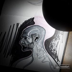 artist self portrait | marker drawing