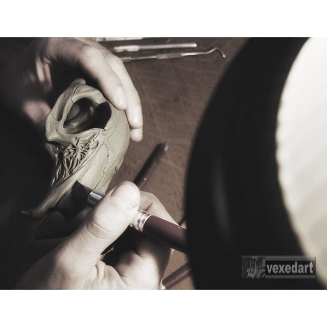 cicada skull sculpture art | clay sculpture artist