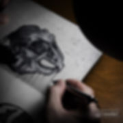 rabbit skull art pen drawing | sketchbook