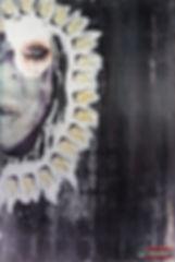 Collage Art Screen Print Screaming portr
