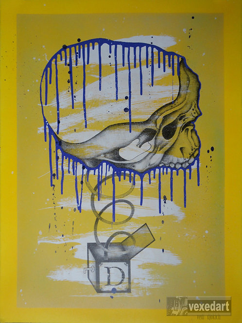 Spray Paint Art Prints for Sale | Pop Art Contemporary | Printmaking Skull