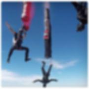 Freefly skydive tube jumps, Steve Curtis Sara Curtis Vedi Djokich, vexedart