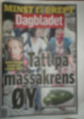 Oslo explosion-Norwegian news paper front page after terrorist attack- July 22 2011-vexedart.com