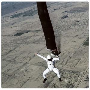 Painting art in terminal velocity. Skydive artist Vedi Djokich