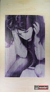 Erotic art female portrait fetish art ve