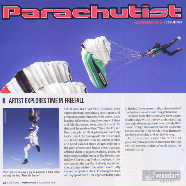 Parachutist Magazine United States Parachutist Magazine publication | skydive artist