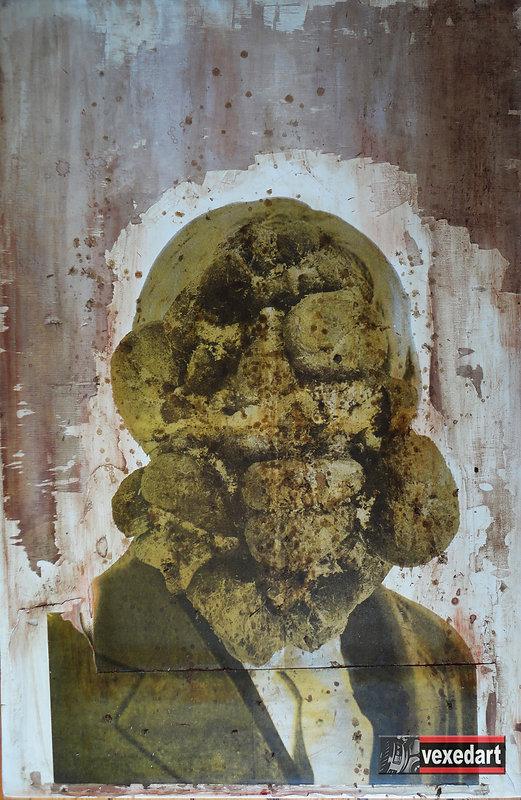Shit Head Anders Breivik portrait made w