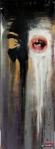Graffiti art portrai female portrait str