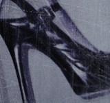 High heel fetish art work. Screen printed erotic art.