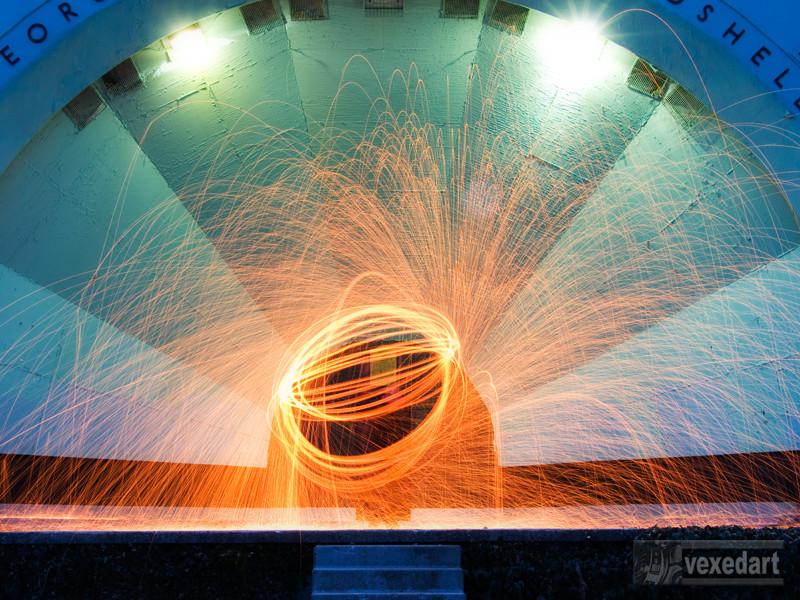 fire painting steel wool