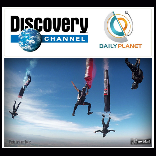 Discovery Channel skydive artist Vedi Djokich Daily Planet vexedart