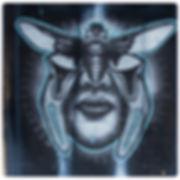 Cicada eyes, bug art insect portrait print