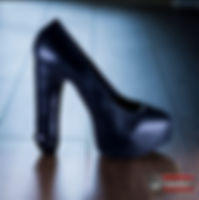 Black Stilleto High Heel Silicone Dildo