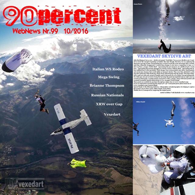 Italian skydive magazine 90 percent   skydive art publication