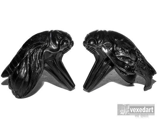 skull art and insect art | cicada and rabbit skull art sculpture