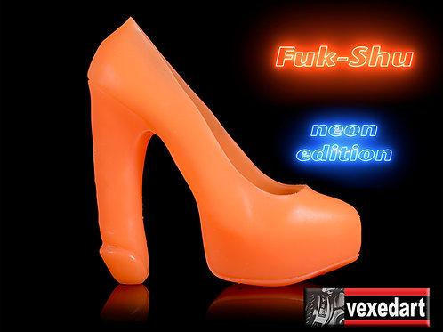 Neon Fuk-Shu : Silicone Shoe Sculpture
