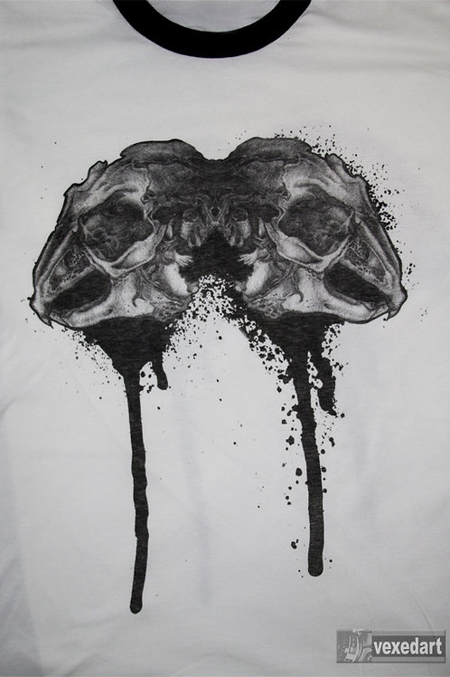 Rabbit Skullz - White shirt w/ black trim
