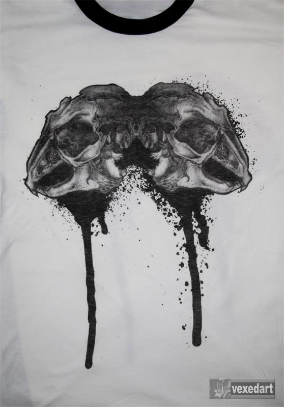 skull t-shirt, animal skull clothing, street art