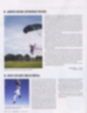 USA Parachutist Magazine featuring Time the Eraser destroying art while skydiving and painting project | USPA monthly skydive mag