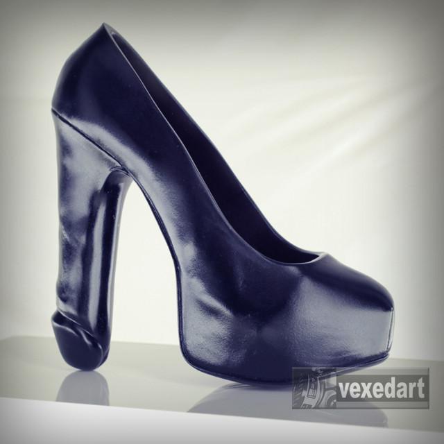 fuck shoe | resin high heel penis sculpture art